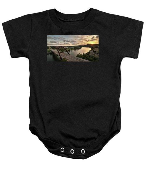 360 Bridge Sunset Baby Onesie