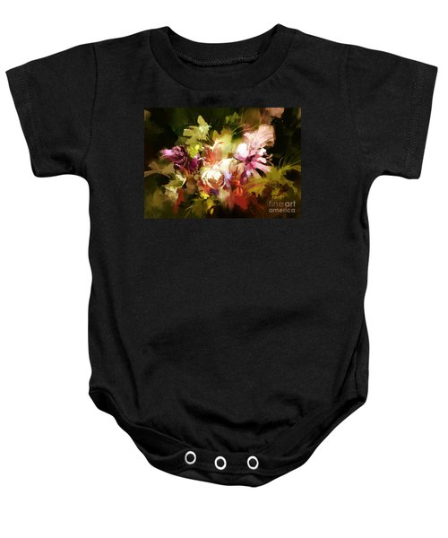 Abstract Flowers Baby Onesie