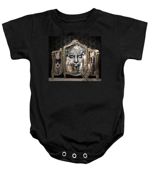 Antique Vampire Paintings Baby Onesie