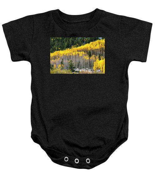 Aspen Trees In Fall Color Baby Onesie