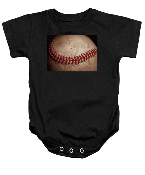 Baby Onesie featuring the photograph Baseball Seams by David Patterson