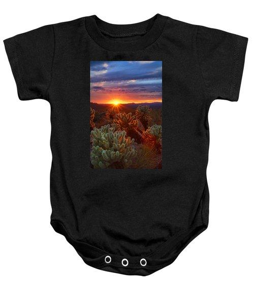 Cholla Sunset  Baby Onesie