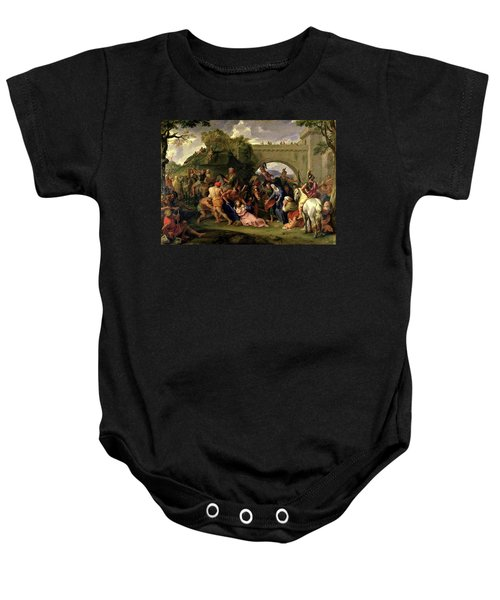 Christ Carrying The Cross Baby Onesie
