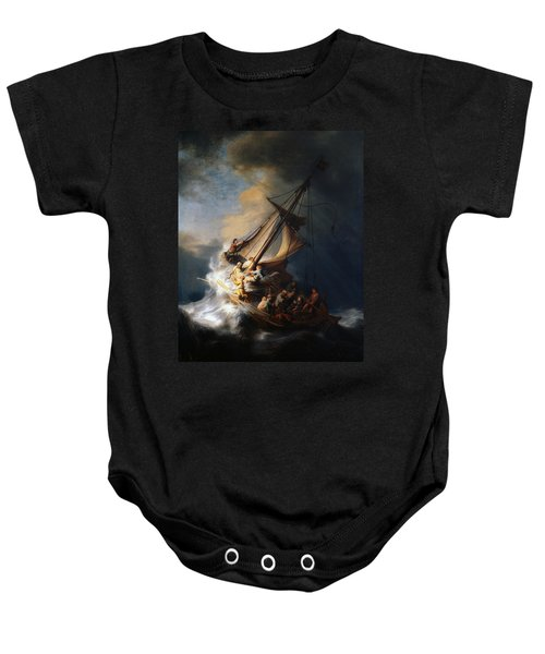 Christ In The Storm On The Lake Of Galilee Baby Onesie