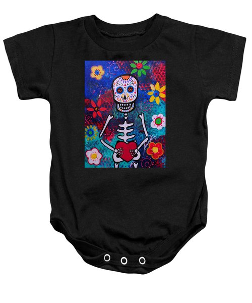 Corazon Day Of The Dead Baby Onesie