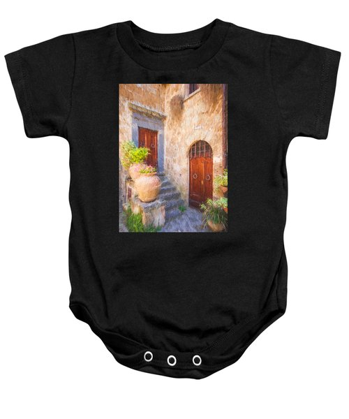 Courtyard Of Tuscany Baby Onesie