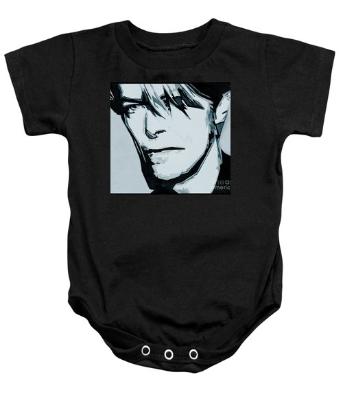 Born Under A Stone Born With A Single Voice. Bowie Baby Onesie