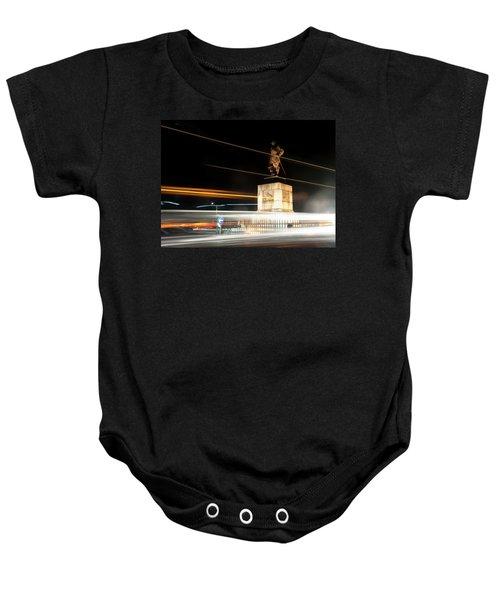 Drake's Statue Traffic Trails Iv Baby Onesie