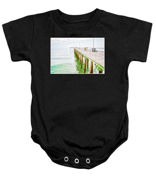 Fishing Pier, Margate, New Jersey Baby Onesie