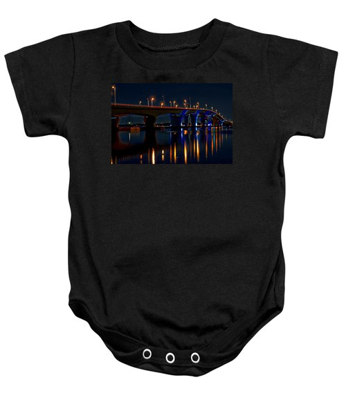 Hathaway Bridge At Night Baby Onesie