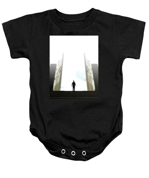 Heavens Gates And Silhouette Baby Onesie