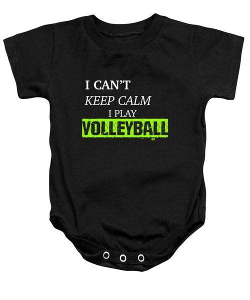 I Play Volleyball Baby Onesie