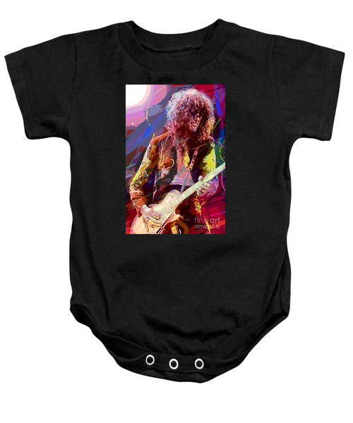 Jimmy Page Les Paul Gibson Baby Onesie