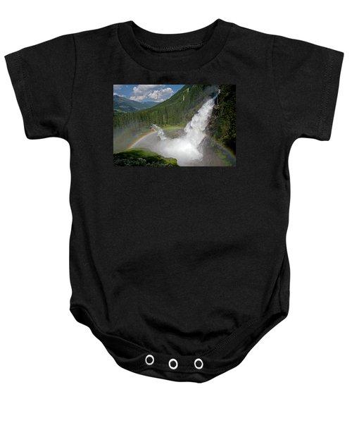 Krimml Waterfall And Rainbow Baby Onesie