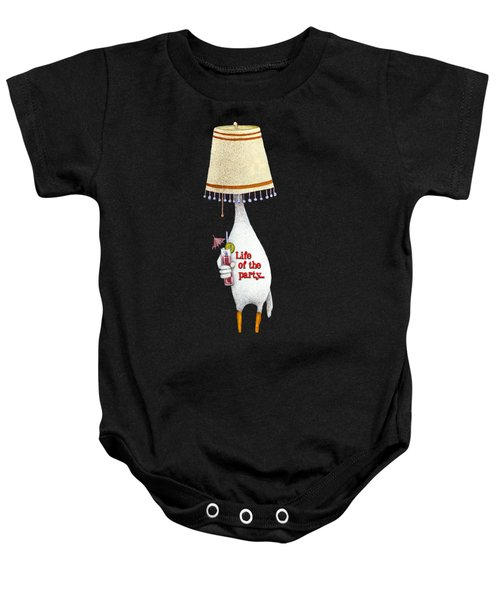 Life Of The Party... Baby Onesie by Will Bullas