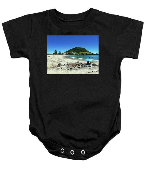 Mount Maunganui Beach 1 - Tauranga New Zealand Baby Onesie