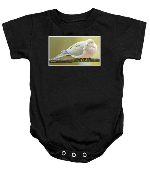 Mourning Dove On Tree Branch Baby Onesie