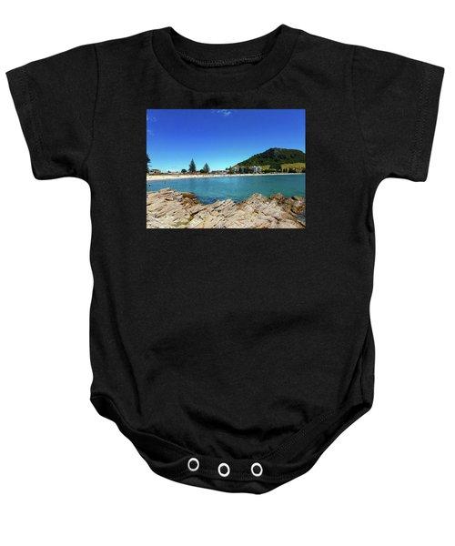 Mt Maunganui Beach 9 - Tauranga New Zealand Baby Onesie