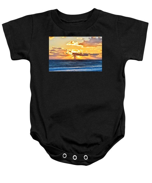 Nags Head Sunrise  Baby Onesie