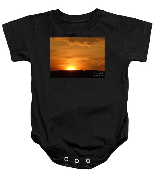 Orange Sunset  II Baby Onesie