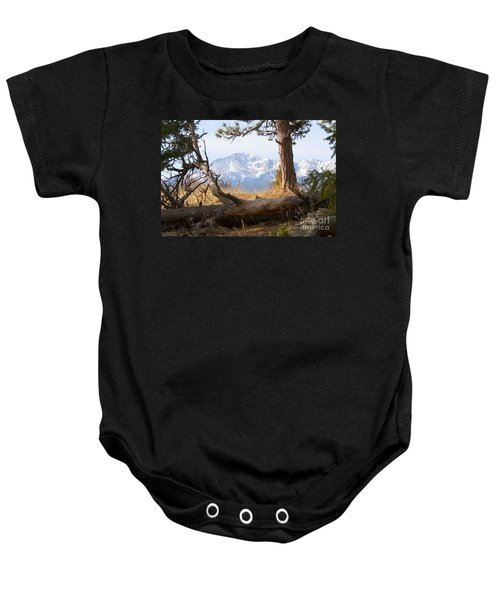 Pikes Peak And Trail To Bald Mountain Baby Onesie
