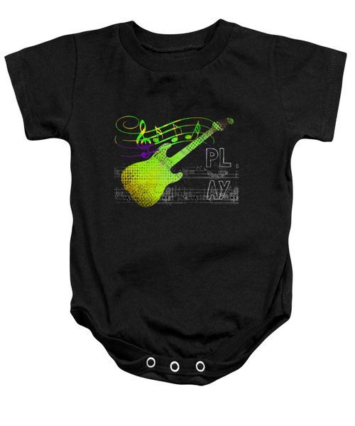 Baby Onesie featuring the digital art Play 1 by Guitar Wacky