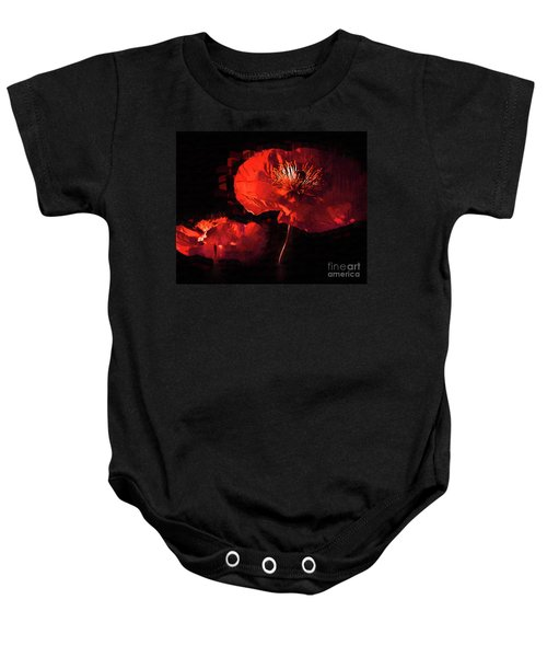 Two Red Poppies Baby Onesie