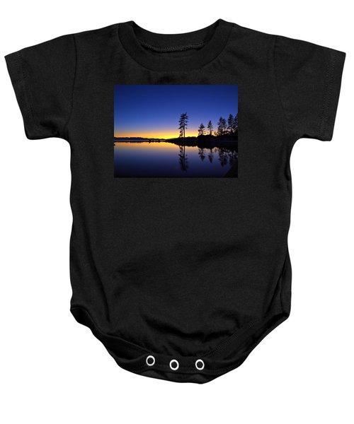 Sand Harbor Sunset Baby Onesie