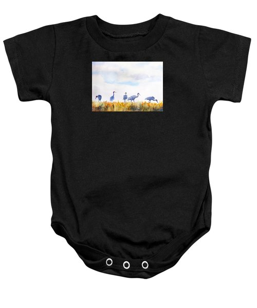 Sandhill Skyline Baby Onesie