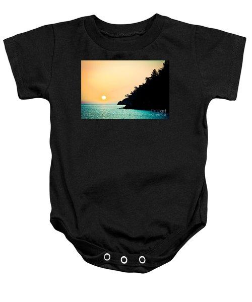 Seascape Sunrise Sea And Sun Baby Onesie