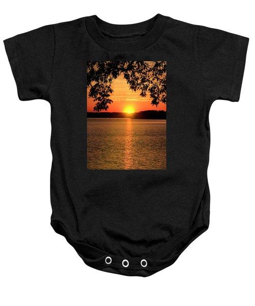 Smith Mountain Lake Silhouette Sunset Baby Onesie