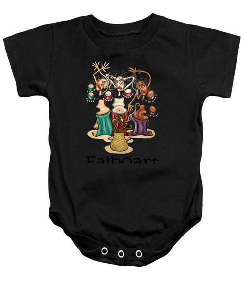 Smoking Belly Dancers Baby Onesie