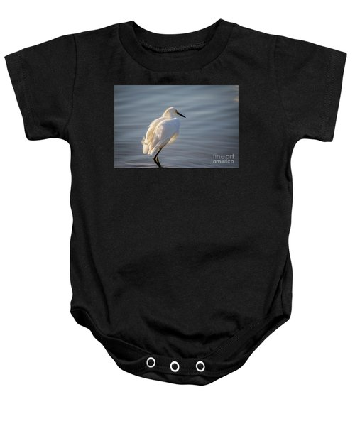 Snowy Egret Baby Onesie