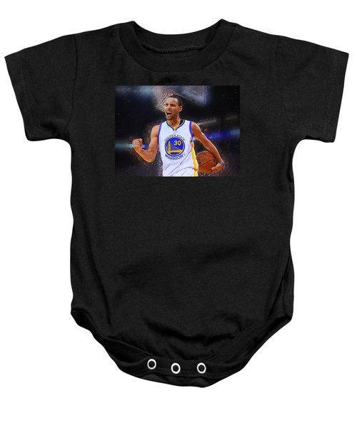Stephen Curry Baby Onesie by Semih Yurdabak