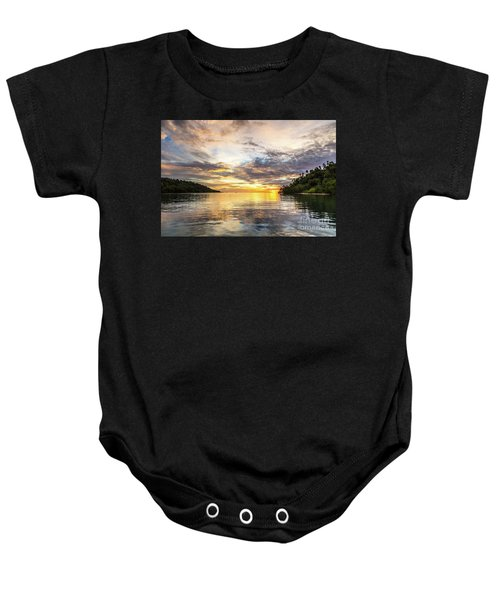 Stunning Sunset In The Togian Islands In Sulawesi Baby Onesie