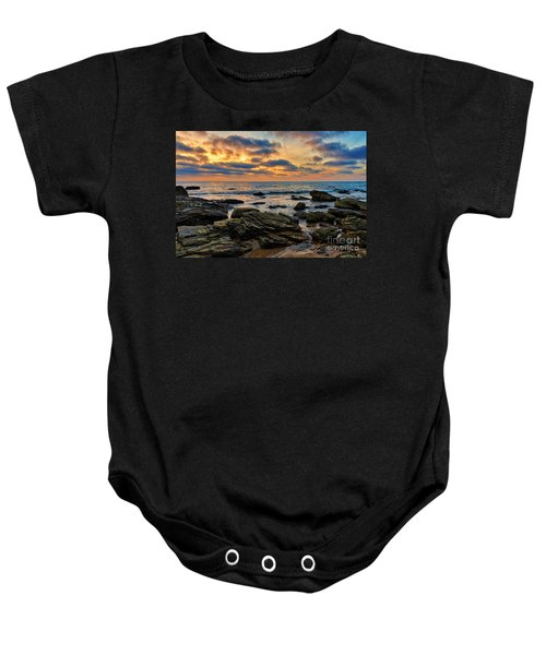 Sunset At Crystal Cove Baby Onesie