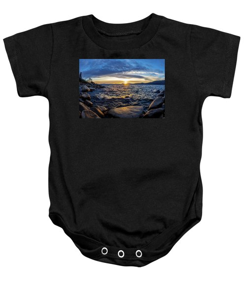 Tahoe Sunset Baby Onesie
