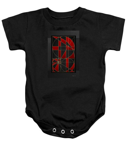 The Alchemy - Divine Proportions - Red On Black Baby Onesie