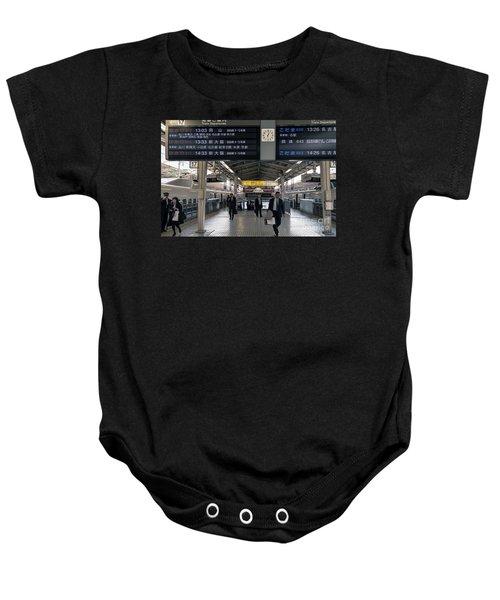 Tokyo To Kyoto, Bullet Train, Japan 3 Baby Onesie