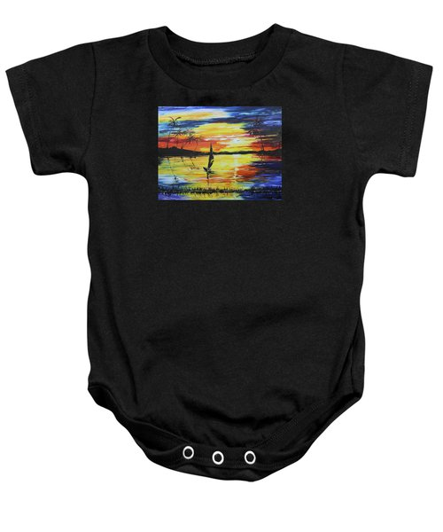 Tropical Sunset Baby Onesie
