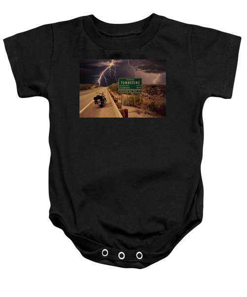 Trouble In Tombstone Baby Onesie