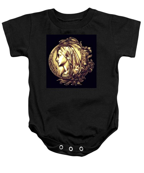 White Lilly Of The Virgin Mary Baby Onesie