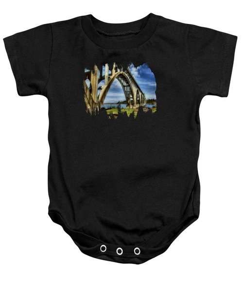 Yaquina Bay Bridge From South Beach Baby Onesie