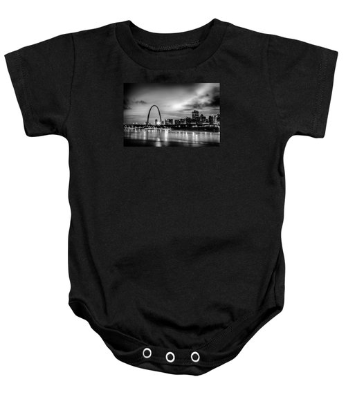 City Of St. Louis Skyline. Image Of St. Louis Downtown With Gate Baby Onesie