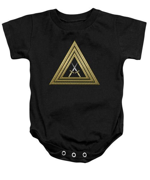 15th Degree Mason - Knight Of The East Masonic Jewel  Baby Onesie by Serge Averbukh