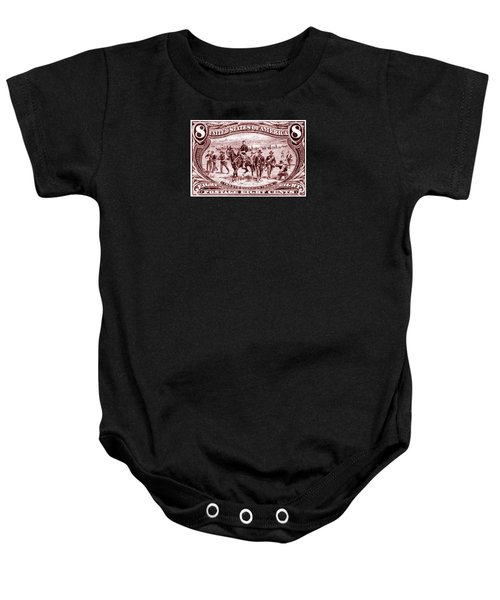 1898 Troops Guard Wagon Train Baby Onesie by Historic Image