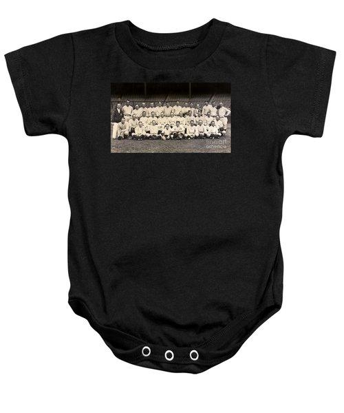 1926 Yankees Team Photo Baby Onesie by Jon Neidert