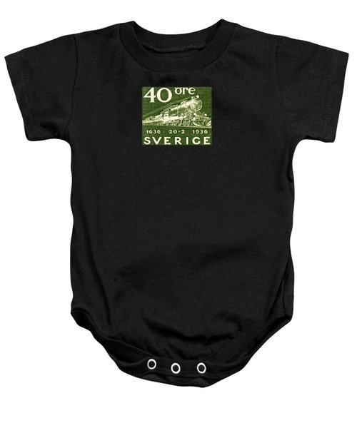 1936 Swedish Railroad Stamp Baby Onesie by Historic Image