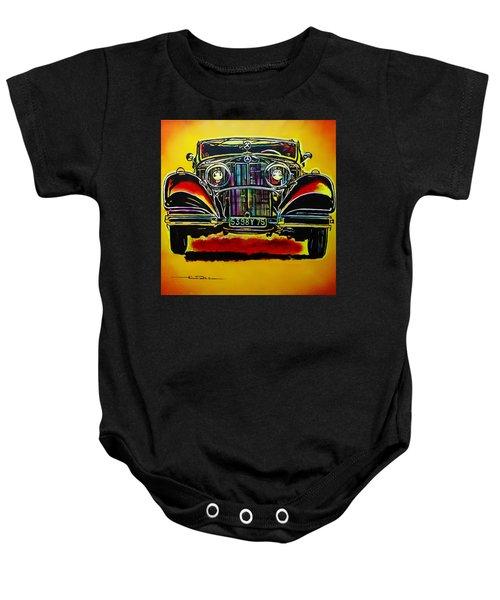 1937 Mercedes Benz First Wheel Down Baby Onesie