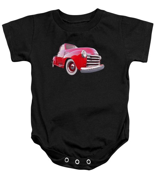 1950 Chevy Pick Up At Sunset Baby Onesie